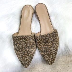 •Top Shop• Cheetah Mules